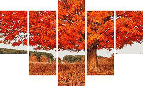 Модульное рисование по номерам Дерево в осеннем платье
